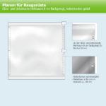 ExpoDruck Plachenf ür Baugerüste ober und unterkante hohlsaum 8 lachgelegt seitenkanten geöst skizze