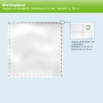 Expodruck Werbplachen für Bauzäune ringsum randverstärkt, Metallösen 16 rund abstand 50 skizze