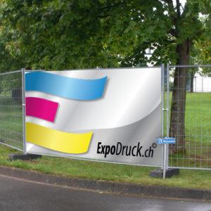 ExpoDruck Bauzäune druck bedruckt