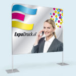 ExpoDruck Displaywand kurz druck bedruckt