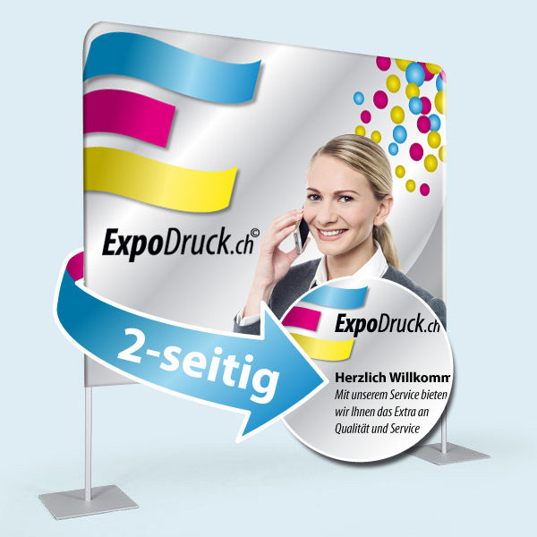 ExpoDruck Displaywand kurz beidseitig druck bedruckt