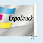 ExpoDruck Endlosbanner druck bedruckt rolle schneiden