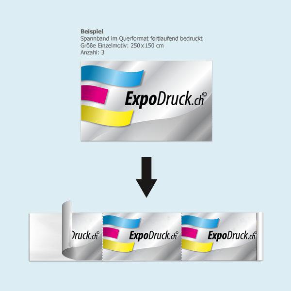 ExpoDruck Endlosbanner druck bedruckt beispiel rolle