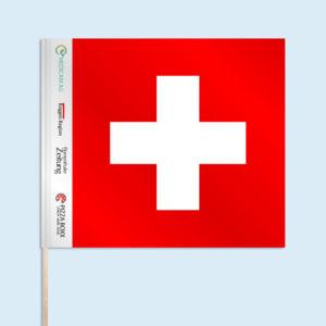 ExpoDruck Handfahne Fahnfahne Schweizerfahne Werbung Holzstab Druck Skifan Sportfans Sportfahne Fussballfahne bedruckt Sponsoren Logo