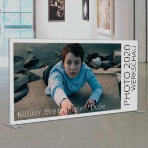 ExpoDruck Q Frame Rahmen Druck Textilrahmen Werbung Display Stoff edel Profil Dekoration Wand Rückwand Fotowand