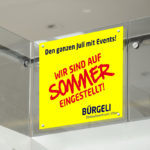 ExpoDruck Saugnapf Scheibe Fenster Beschriftung Druck
