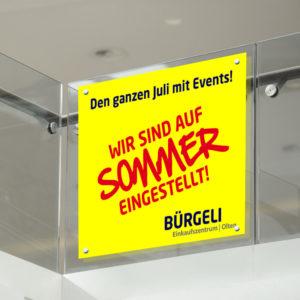 ExpoDruck Saugnapf Scheibe Fenster Beschriftung Druck Halterung