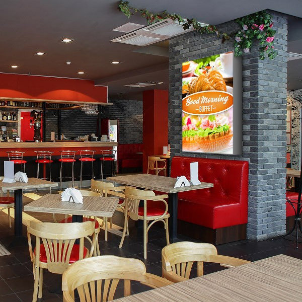 ExpoDruck Leuchtkasten Hoch druck bedruckt restaurant