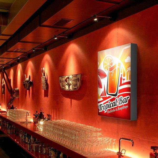 ExpoDruck Leuchtkasten Hoch druck bedruckt bar