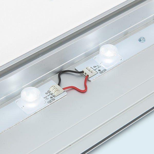 ExpoDruck Leuchtkasten LED Licht Textildruck detail