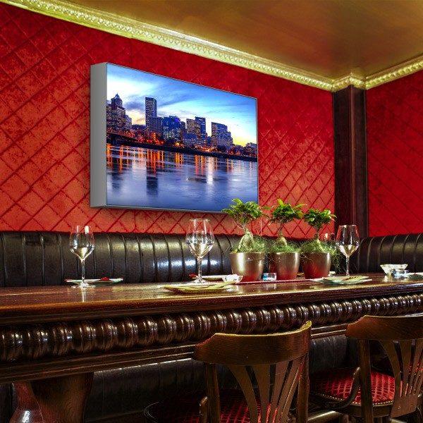 ExpoDruck Leuchtkasten LED quer druck bedruckt restaurant