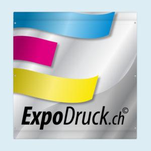 ExpoDruck Plachen für Bauzäune druck bedruckt detail ösen hohlsaum kanten