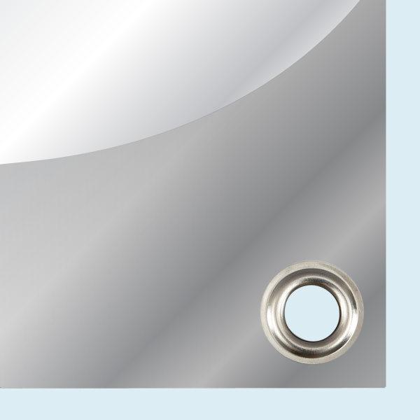 ExpoDruck Plachen für Bauzäune druck bedruckt detail ecken ösen