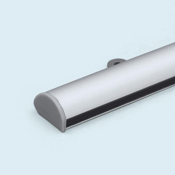ExpoDruck Stoffbanner Klemmschiene Aluminium detail system