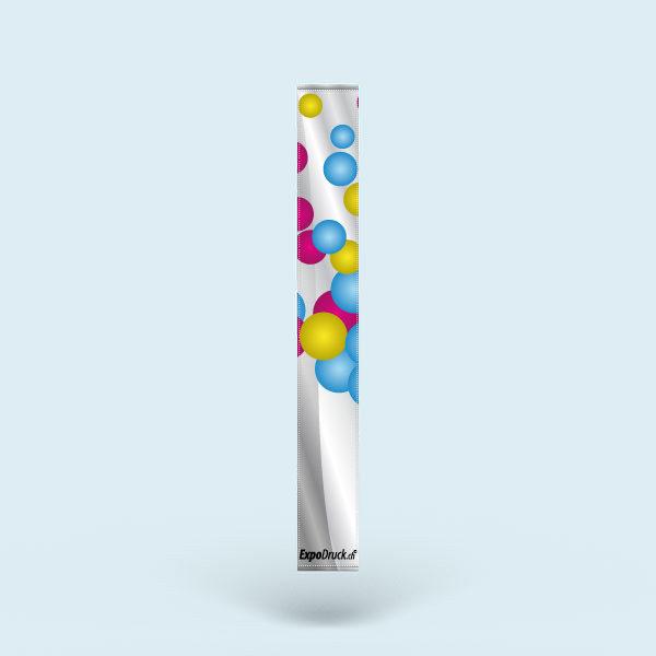 ExpoDruck Stoffbanner XL im Hochformat mit Hohlsaum Kanten gesäumt druck bedruck