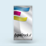 ExpoDruck Stoffbanner XL im Hochformat mit Hohlsaum Kanten gesäumt druck bedruckt