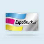 ExpoDruck Stoffbanner XL im Querformat, mit Ösen Ober- und Unterkante geschnitten druck bedruckt