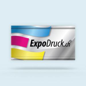 ExpoDruck Stoffbanner XL im Querformat mit Hohlsaum Kanten gesäumt druck bedruckt
