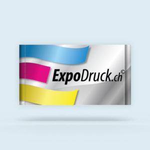 ExpoDruck Stoffbanner XL im Querformat mit Hohlsaum Ober- und Unterkante geschnitten druck bedruckt