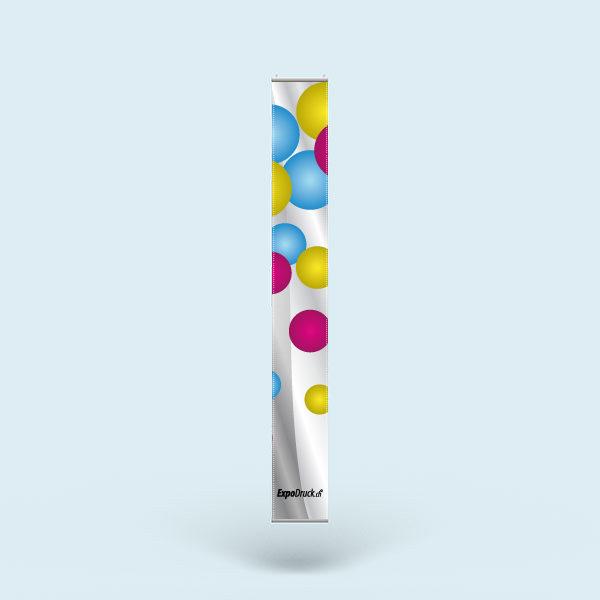 ExpoDruck Stoffhänger XL mit Alu-Kederprofil Hochformat gesäumt druck gedruckt
