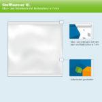 ExpoDruck Stoffhänger XL mit Alu-Kederprofil Hochformat geschnitten skizze