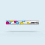 ExpoDruck Stoffhänger XL mit Alu-Kederprofil Querformat gesäumt druck bedruckt