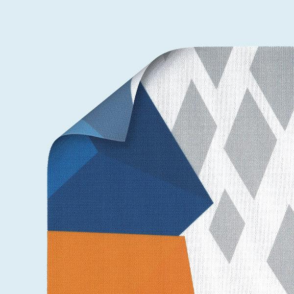 ExpoDruck Stoffhänger XL ringsum geschnitten detail