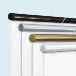 ExpoDruck Stoffhänger bis 3 m² mit Beleistung detail leiste farben
