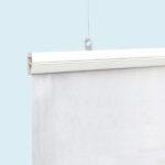 ExpoDruck Stoffhänger bis 8 m² mit Beleistung detail system