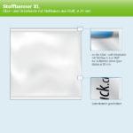 ExpoDruck Stoffhänger bis 8 m² mit Beleistung oberkante unterkante hohlsaum stoff 20 rund