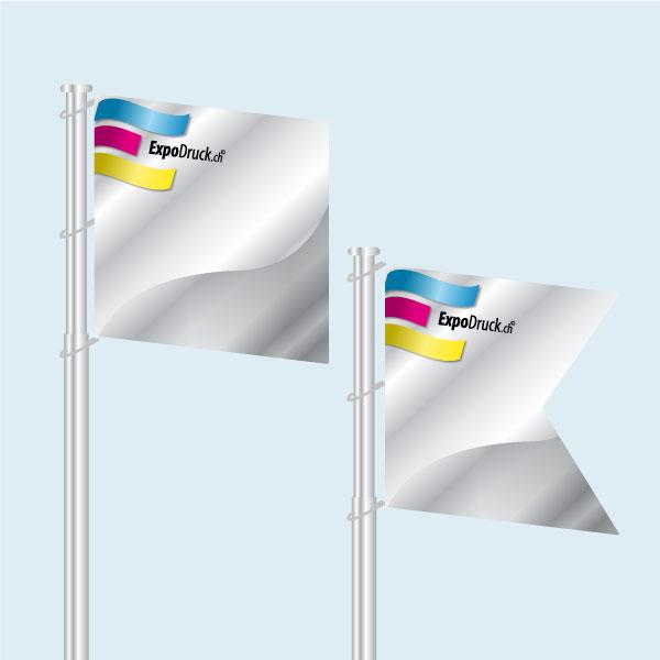 ExpoDruck Fahne fahnenstange formen druck bedruckt