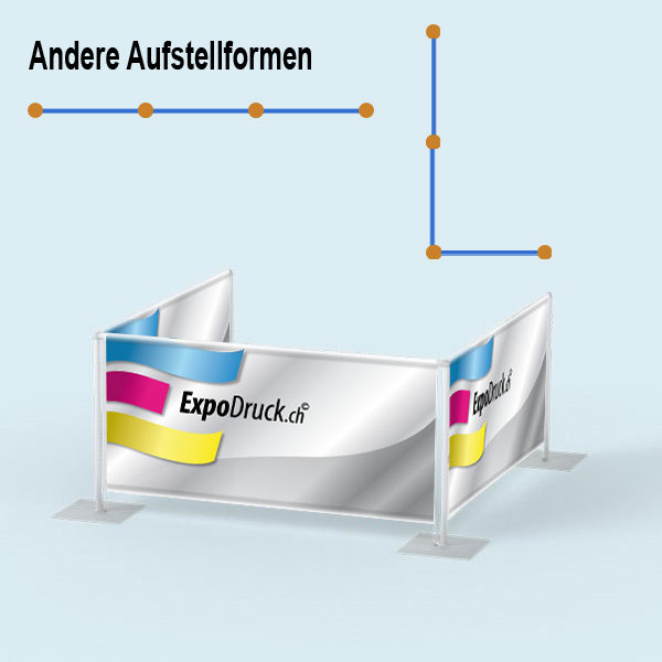 ExpoDruck Absperrsystem 3-fach