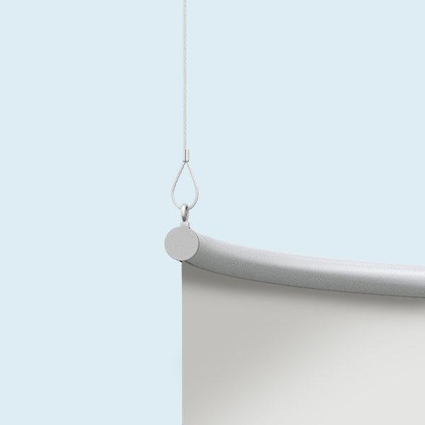 Deckenhänger mit Alu-Kederprofil 3