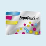 ExpoDruck Displaywand gebogen druck gedruckt