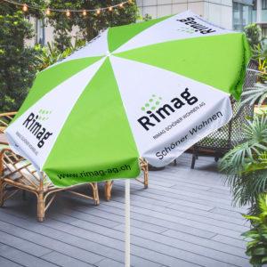 ExpoDruck Sonnenschirm Druck Werbesonnenschirm Schirm Werbung Druckerei Shop bestellen Sonnenschutz