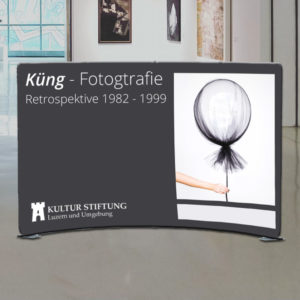 ExpoDruck Wand Display gebogen-rund Druck Fotowand Rückwand Standbau Dekoration Stoff Standbau