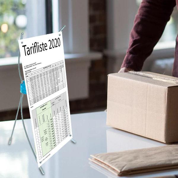 ExpoDruck X Display Table Topper Tischsteller Steller Druck Tisch Füsschen Werbung bedruckt Aufsteller Mini Display
