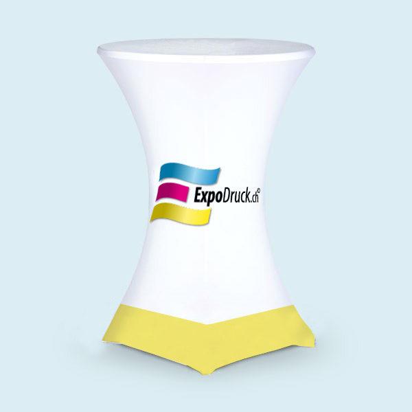 ExpoDruck Sonnenschirmstehtisch 70cm ohne Loch elastisch bestpannt husse bedruckt druck