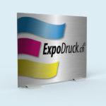 ExpoDruck Klemmständer TableTopper Alu druck bedruckt lasierend