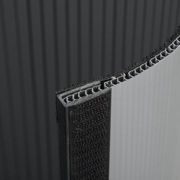 ExpoDruck Lamellen Counter theke druck bedruckt rund detail klett