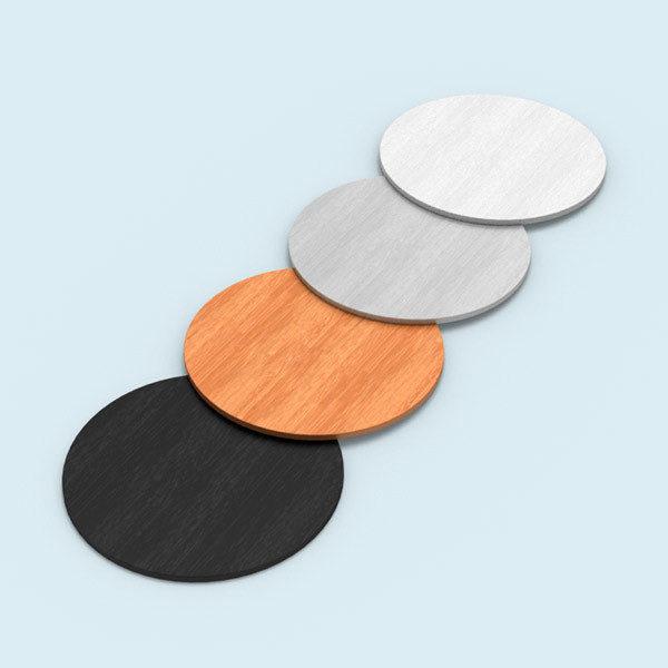 ExpoDruck Lamellen Counter elipse gebogen rund druck bedruckt theke messe stand detail tischplatten farben varianten