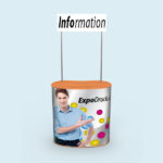 ExpoDruck Promotion Counter Klett druck bedruckt theke messe stand topshield schild