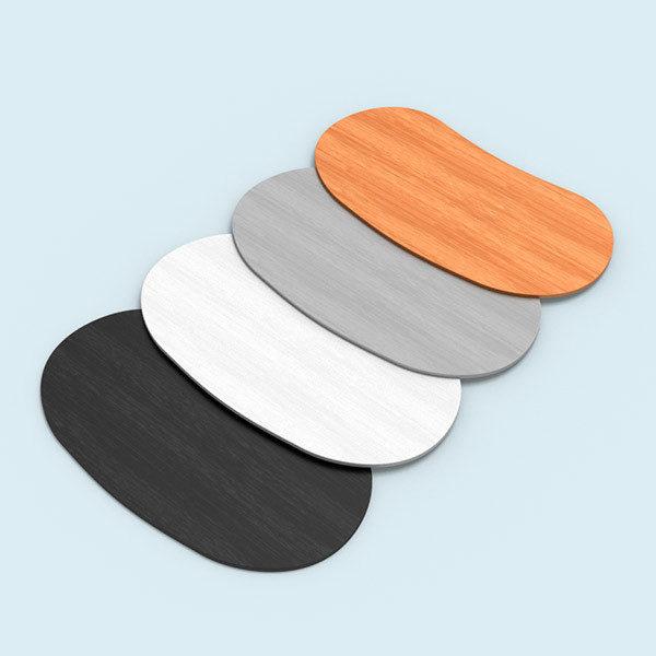 ExpoDruck Lamellen Counter theke druck bedruckt elipse gebogen detail tischplatten farben varianten
