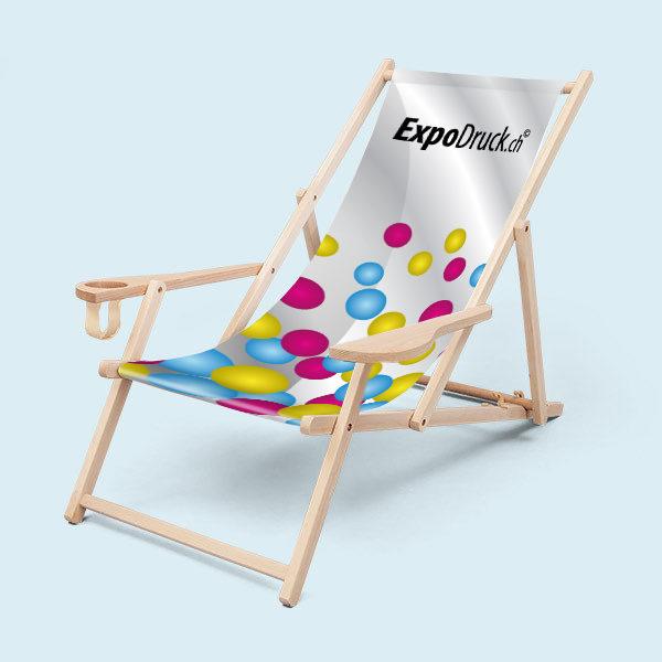 ExpoDruck Liegestühle mit Armlehne mit Flaschenhalter