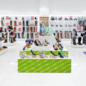 ExpoDruck Palettenbanderolen Schuhgeschaeft