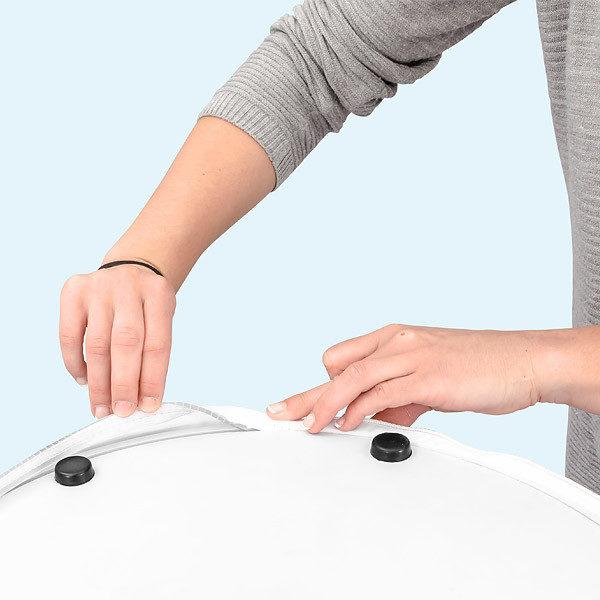 ExpoDruck Promotion Counter Air theke luft detail fuss verarbeitung anleitung