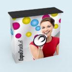 ExpoDruck Promotion Counter Klett druck bedruckt theke messe stand