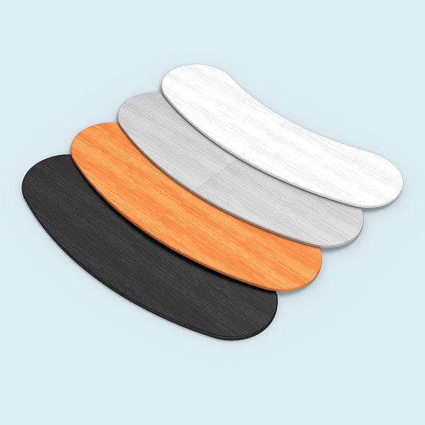 ExpoDruck Promotion Counter magnet druck bedruckt theke messe stand elipse gebogen detail tischplatte farben varianten
