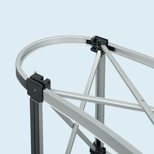 ExpoDruck Promotion Counter magnet druck bedruckt theke messe stand elipse gebogen detail system
