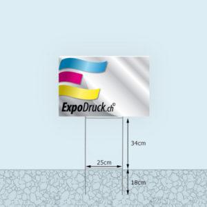 ExpoDruck Rasenschild Werbetafel Druck masse